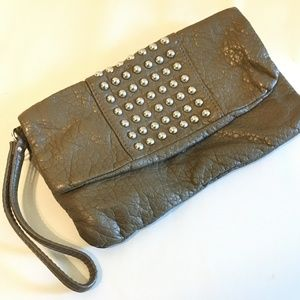 MOSSIMO Brown Large Wristlet Pouch Clutch